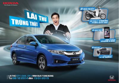 """""""Lái thử, trúng thật"""" – Cơ hội trải nghiệm """"Cảm giác lái phấn khích"""" bộ ba sản phẩm ô tô Honda mới nhất và trúng những giải thưởng giá trị!"""