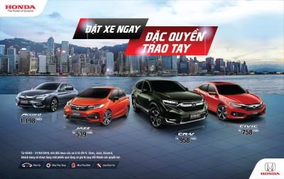 """Honda Việt Nam chính thức công bố Giá bán lẻ đề xuất các mẫu ôtô nhập khẩu nguyên chiếc từ Thái Lan và triển khai Chương trình khuyến mãi đặc biệt """"Đặt xe ngay, Đặc quyền trao tay"""""""