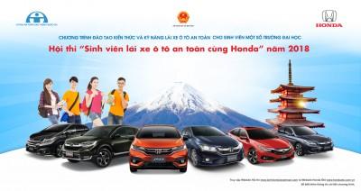 """Honda Việt Nam công bố kết quả Vòng loại và thể lệ Vòng chung kết Hội thi """"Sinh viên lái xe ôtô an toàn cùng Honda năm 2018"""""""