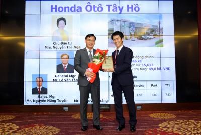Honda Ôtô Tây Hồ tự hào được vinh danh là một trong 3 đại lý Honda ô tô suất sắc nhất Việt Nam