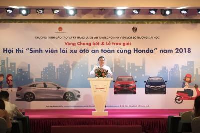 """Sôi động Vòng chung kết Hội thi """"Sinh viên lái xe ôtô an toàn cùng Honda năm 2018"""""""