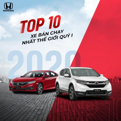 Honda CR-V và Honda Civic lọt Top 10 mẫu xe bán chạy nhất thế giới quý I/2020